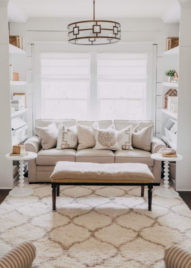 decorated nook with couch