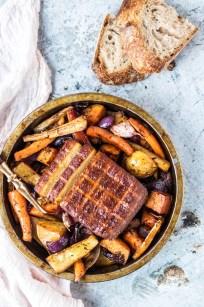 Super Easy One Pan Vegan Sunday Roast This Vibrant World