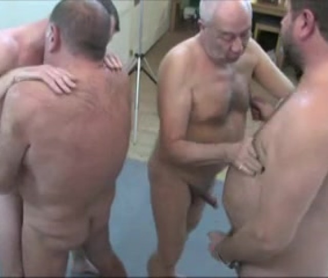 Four Mature Guys Enjoy A Gay Orgy