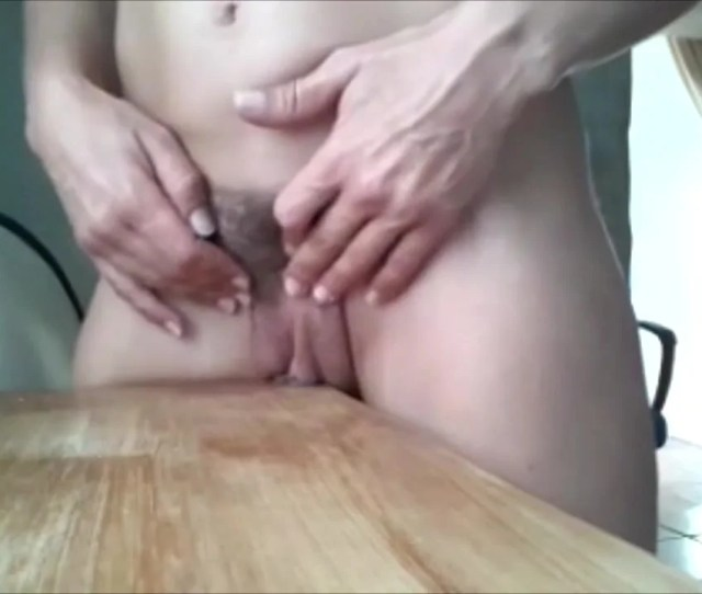 Rubbing A Pussy On The Table