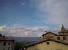 view from the top of Anghiari