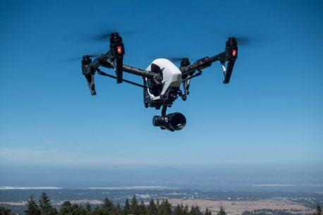 DJI Inspire 1 with X5 gimbal and Micro Four Thirds camera at Thomas Fogarty Winery
