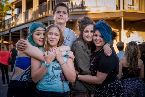 ©KenLyons - Shaley, Maddison, Alex, Ellen and Sienna enjoying themselves at the Kapunda Christmas Street Party