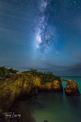 Made from 21 light frames (captured with a Canon camera) by Starry Landscape Stacker 1.6.0. Algorithm: Median