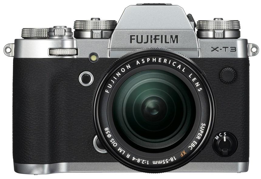 Fuji-X-T3-Front Silver