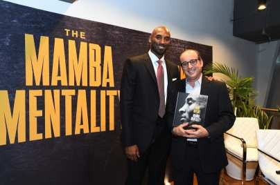 LOS ANGELES - OCTOBER 25: Mamba Mentality book launch Q & A with Kobe Bryant and Andrew D. Bernstein as John Ireland moderates on October 25, 2018 at Staples Center in Los Angeles, California. Copyright NBAE 2002 (Photo by Andrew D. Bernstein/ NBAE/
