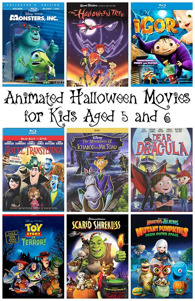 Animated Halloween movies for kids aged 5 and 6