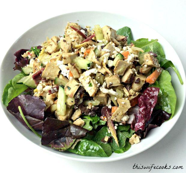vegetarian greek chicken salad 2