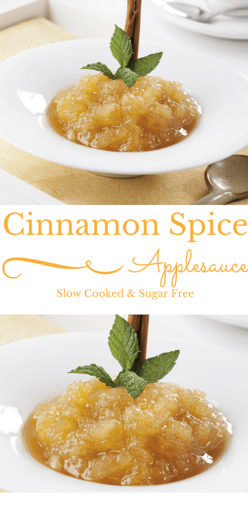 Cinnamon Spice Applesauce | Slow Cooked & Sugar-Free | thiswifecooks.com