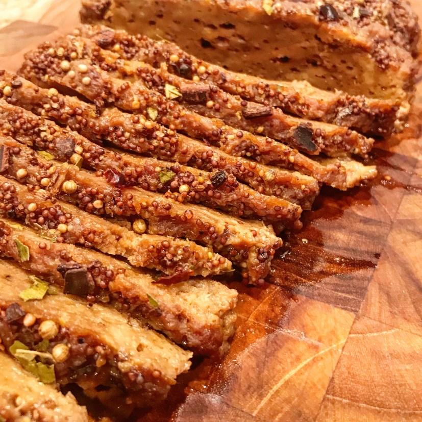 Glazed Corned Seitan Roast | thiswifecooks.com