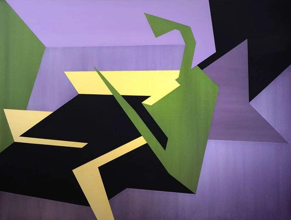 Samara Adamsoin-Pinczewski, Chameleonic Reflections. 2015, Acrylic and iridecent acrylic on canvas, 137 x 183