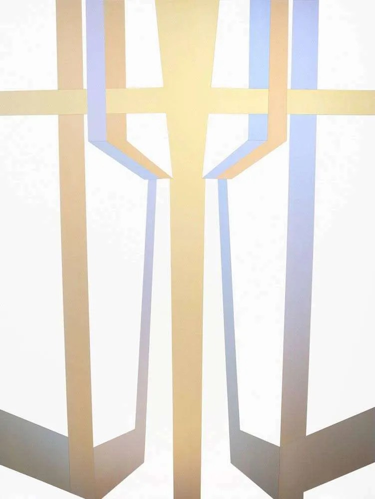 Samara Adamsoin-Pinczewski, Iridescent Complex, 2015, Acrylic and iridescent acrylic on canvas, 183 X 137