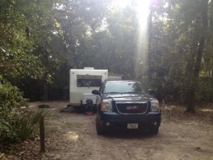 Our spot at Faver Dykes State Park