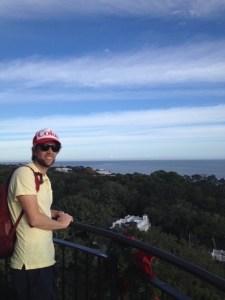 John at the top of St. Simons Island Lighthouse