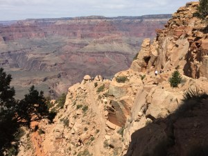 The South Kaibab trail, descending into the Grand Canyon