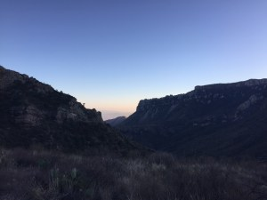 Sunset on our first hike - Lost Mines