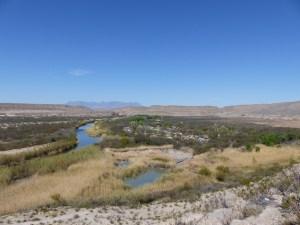 Rio Grande Village campground from above