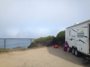 South Carlsbad State Beach - pretty but foggy