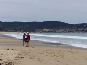 A beautiful walk along the beach to Monterey