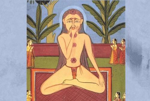 Yogi performing Nadi Shodhana