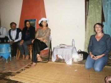 Intervention de Caroline l'assisitante-de-pierre-rabhi-pour-le-dejeuner-en-l'honneur de Pierre Rabhi à la Ferme Jnane Lakbir