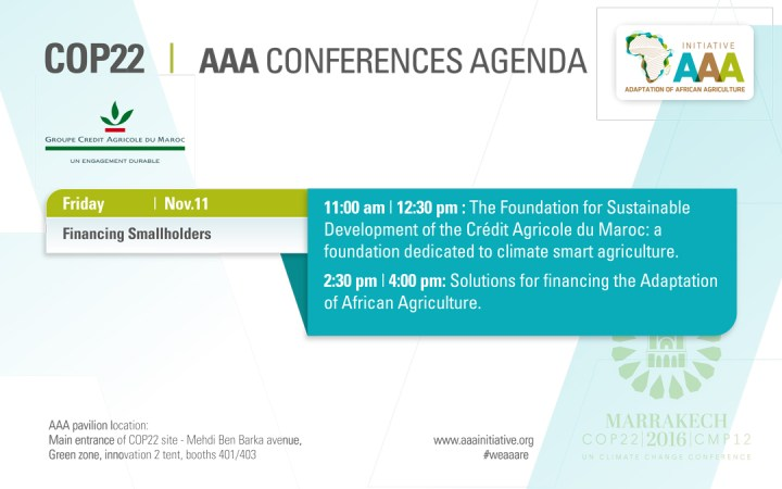 COP22 et THM. AAA Adaptation of African Agriculture / Intervention de Fattouma Djerrari
