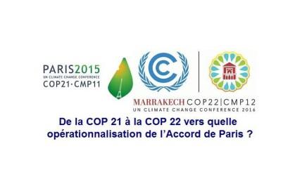 Table ronde - De la COP 21 à la COP 22
