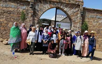 Visite Femmes productrices Safran Sept 19 au Cipa Pierre Rabhi
