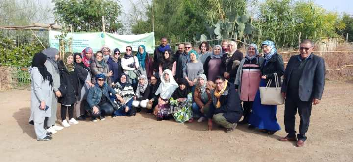 Visite d'un groupe de coopératives de TIZNIT au CIPA-PIERRE RABHI