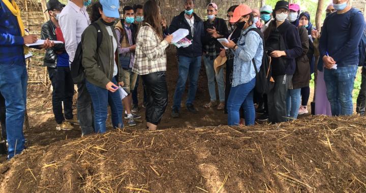 Au CIPA-Pierre Rabhi, le 6 avril 2021 : visite des étudiants de l'université Cadi Ayyad de Marrakech avec leur professeur