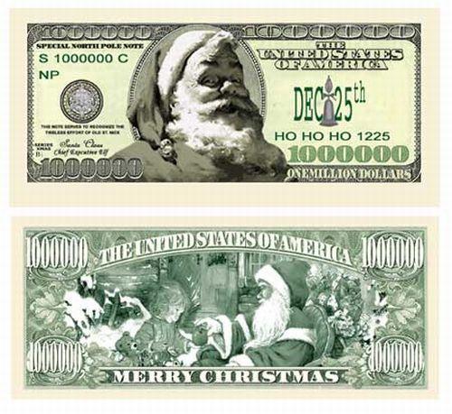 25 Santa Claus Christmas Holiday Fake Money Bills EBay