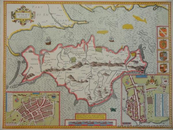OLD COPY OF ANTIQUE MAP 1700 S ISLE OF WIGHT   eBay WE HAVE RECENTLY ACQUIRED THE OLD STOCK FROM A MAP SHOP IN LONDON OF WHICH  THIS IS ONE  THE MAP IS A GOOD QUALITY COPY OF THE 1700 S ORIGINAL