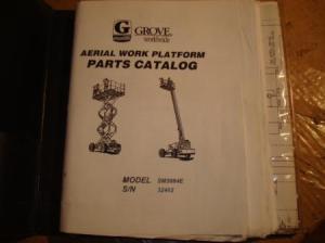 GROVE SM3884E 3184 4688 MANLIFT WORK PLATFORM PARTS