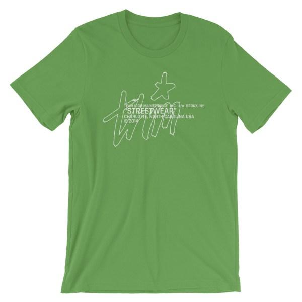 Streetwear t-shirt green front