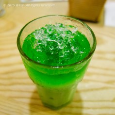 Pandan Leaf Juice with Milk - Sam Dua Sua (before mixing)
