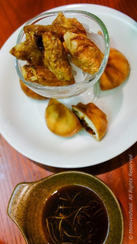 Fried Seafood Bean Curd and Fried Chill Crab Bao