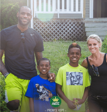 "Thomarios Donates Painting Services For Lebron James Family Foundation Promise Project To Be Aired On HGTV's ""Rehab Addict"""