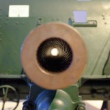 Vue sur les stries du canon