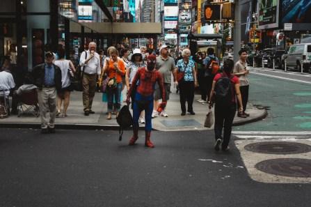 J'ai eu la chance de croisé Spider-Man qui rentrait chez lui après une rude journée de boulot.