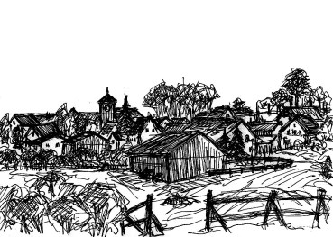 BarnimSk10 Althuettendorf Blick aufs Dorf