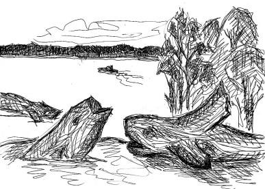 BarnimSk16 Werbellinsee Zwei Seeungeheuer