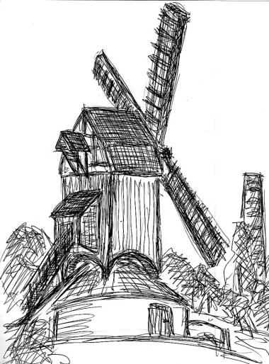 Belgien8-Flandern Bruegge Windmuehle