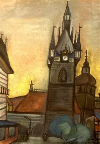 Boehmen8_Prag-Uhrenturm Jindrisska