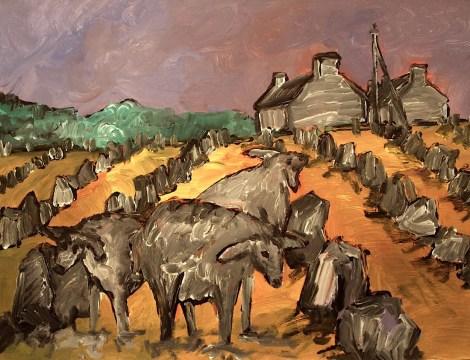 Bretagne6_Schafe im Menhirfeld