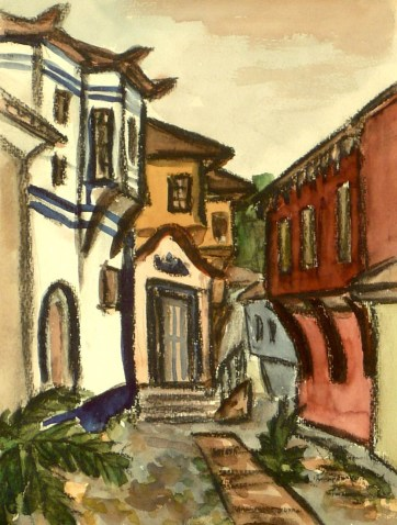 Bulgar8-Plovdiv-Altstadtgasse