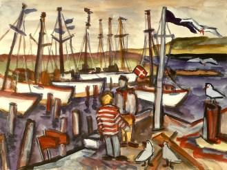 Daenemark1-Hafen von Lyndby