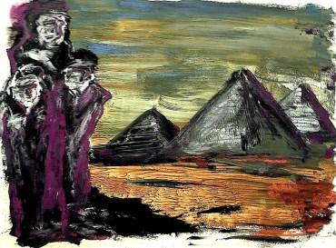 Egypt37-Gizeh-Geister vor Pyramiden