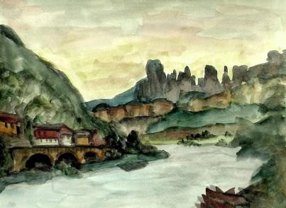 Elbsand45-Elbe mit Schrammsteinen