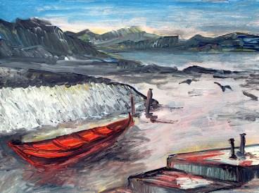 FAROE8-Bucht von Gamlarett