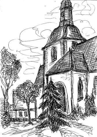 HavelSk4 Ribbeck Birnbaum mit Kirchturm